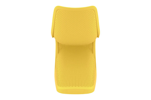 Siesta Outdoor Bloom Dining Chair Yellow (Set of 2), Yellow, large
