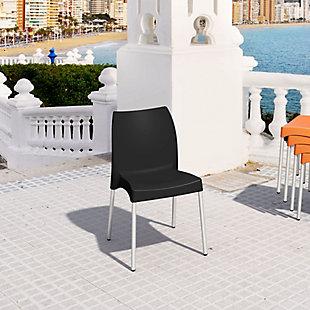 Siesta Outdoor Vita Dining Chair Black (Set of 2), Black, rollover