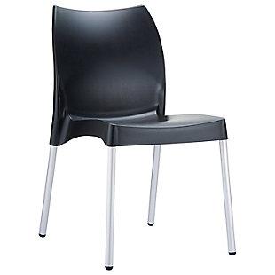 Siesta Outdoor Vita Dining Chair Black (Set of 2), Black, large
