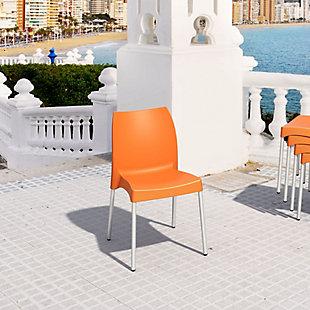 Siesta Outdoor Vita Dining Chair Orange (Set of 2), Orange, rollover