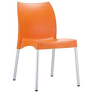 Siesta Outdoor Vita Dining Chair Orange (Set of 2), Orange, large