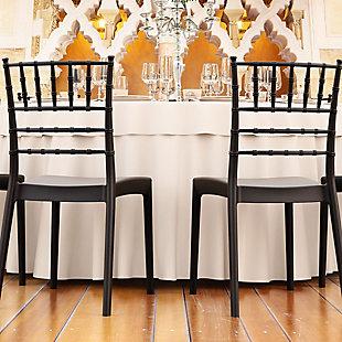 Siesta Outdoor Josephine Dining Chair Black (Set of 2), Black, rollover