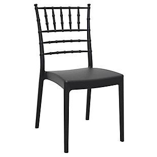 Siesta Outdoor Josephine Dining Chair Black (Set of 2), Black, large