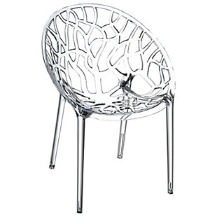 Siesta Outdoor Crystal Modern Dining Chair Transparent (Set of 2), , large