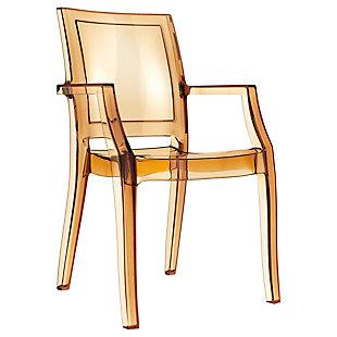 Siesta Outdoor Arthur Modern Dining Chair Transparent Amber (Set of 4), Transparent Amber, large