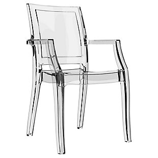 Siesta Outdoor Arthur Modern Dining Chair Transparent Clear (Set of 4), Transparent Clear, large
