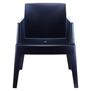 Siesta Outdoor Box Dining Arm Chair Black (Set of 4), Black, large