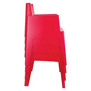 Siesta Outdoor Box Dining Arm Chair Red (Set of 4), Red, rollover