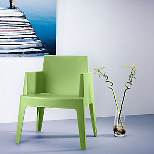 Siesta Outdoor Box Dining Arm Chair Tropical Green (Set of 4), Tropical Green, rollover