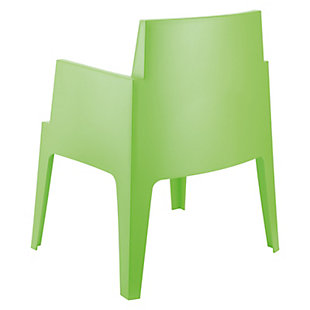 Siesta Outdoor Box Dining Arm Chair Tropical Green (Set of 4), Tropical Green, large