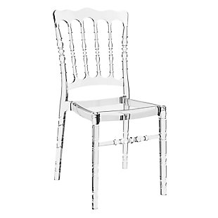 Siesta Outdoor Opera Dining Chair Transparent Clear (Set of 2), Transparent Clear, large
