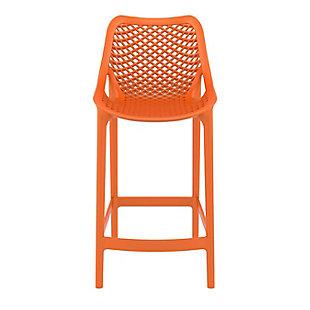 Siesta Outdoor Air Counter Stool Orange (Set of 2), Orange, large