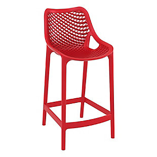 Siesta Outdoor Air Counter Stool Red (Set of 2), , large
