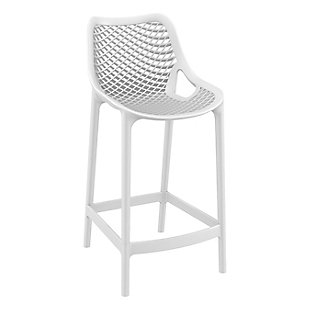 Siesta Outdoor Air Counter Stool White (Set of 2), , large