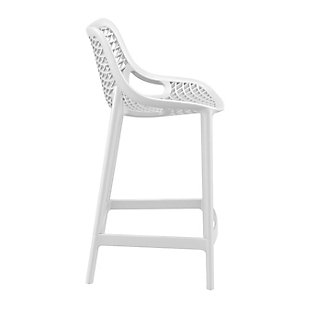 Siesta Outdoor Air Counter Stool White (Set of 2), White, large