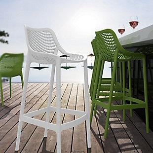 Siesta Outdoor Air Bar Stool White (Set of 2), , rollover