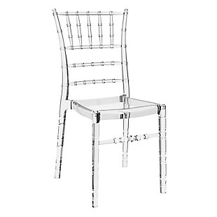 Siesta Outdoor Chiavari Dining Chair Transparent Clear (Set of 2), Transparent Clear, large