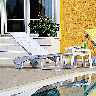 Siesta Outdoor Sundance Pool Chaise Lounge White (Set of 2), , rollover