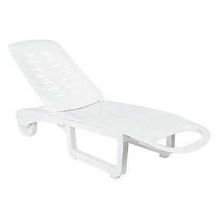 Siesta Outdoor Sundance Pool Chaise Lounge White (Set of 2), , large