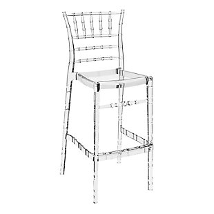 Siesta Outdoor Chiavari Bar Stool Transparent Clear (Set of 2), Transparent Clear, large