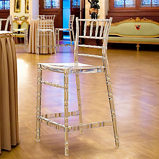Siesta Outdoor Chiavari Counter Stool Transparent Clear (Set of 2), , rollover