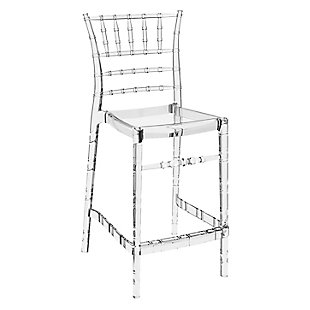 Siesta Outdoor Chiavari Counter Stool Transparent Clear (Set of 2), , large