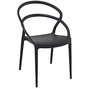 Siesta Outdoor Pia Dining Chair Black (Set of 2), Black, large