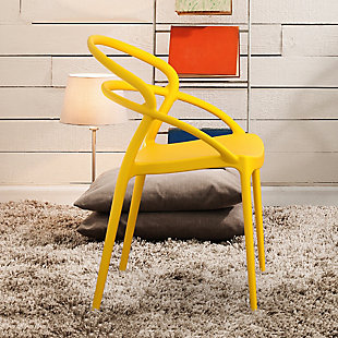 Siesta Outdoor Pia Dining Chair Yellow (Set of 2), Yellow, rollover