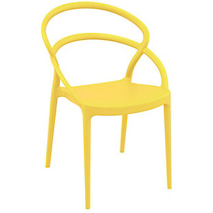 Siesta Outdoor Pia Dining Chair Yellow (Set of 2), Yellow, large