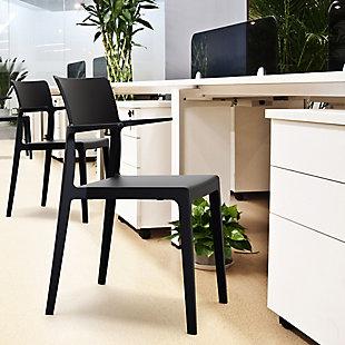 Siesta Outdoor Plus Arm Chair Black (Set of 2), Black, rollover