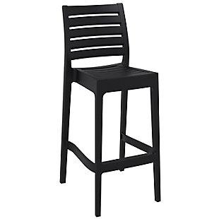 Siesta Outdoor Ares Bar Stool Black (Set of 2), , large