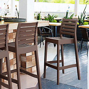 Siesta Outdoor Ares Bar Stool Brown (Set of 2), , rollover