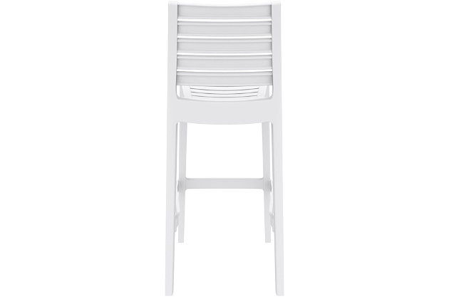 Siesta Outdoor Ares Bar Stool White (Set of 2), White, large
