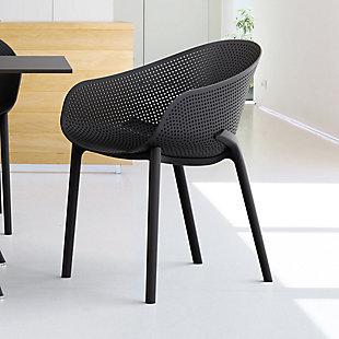 Siesta Outdoor Sky Dining Chair Black (Set of 2), Black, rollover