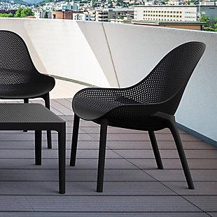 Siesta Outdoor Sky Lounge Chair Black (Set of 2), Black, rollover