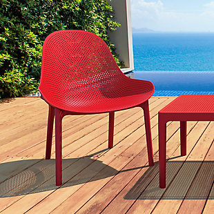 Siesta Outdoor Sky Lounge Chair Red (Set of 2), Red, rollover