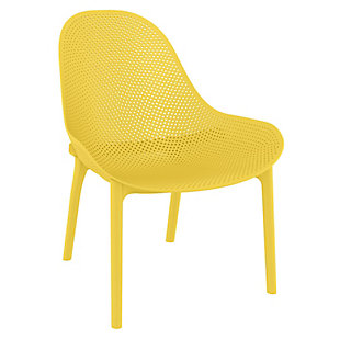 Siesta Outdoor Sky Lounge Chair Yellow (Set of 2), Yellow, large
