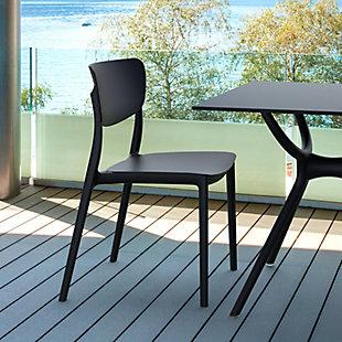 Siesta Outdoor Monna Dining Chair Black (Set of 2), Black, rollover