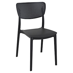 Siesta Outdoor Lucy Dining Chair Black (Set of 2), Black, large