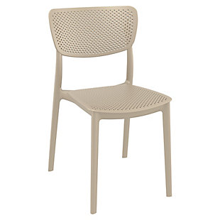 Siesta Outdoor Lucy Dining Chair Taupe (Set of 2), , large