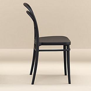 Siesta Outdoor Marie Chair Black (Set of 2), Black, rollover