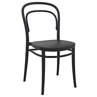 Siesta Outdoor Marie Chair Black (Set of 2), Black, large