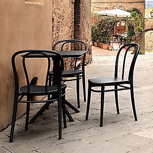 Siesta Outdoor Victor Chair Black (Set of 2), Black, rollover