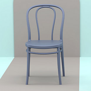 Siesta Outdoor Victor Chair Dark Gray (Set of 2), Dark Gray, rollover