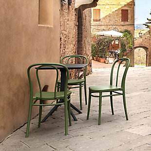 Siesta Outdoor Victor Chair Olive Green (Set of 2), Olive Green, rollover