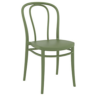 Siesta Outdoor Victor Chair Olive Green (Set of 2), Olive Green, large
