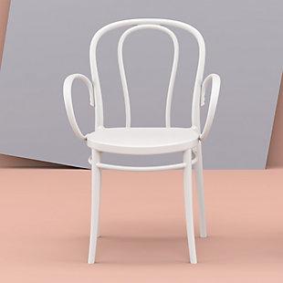 Siesta Outdoor Victor XL Arm Chair White (Set of 2), White, rollover