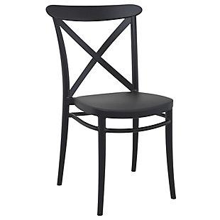 Siesta Outdoor Cross Chair Black (Set of 2), Black, large