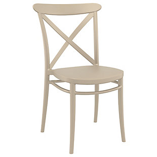 Siesta Outdoor Cross Chair Taupe (Set of 2), Taupe, rollover