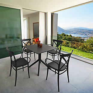 Siesta Outdoor Cross XL Arm Chair Black (Set of 2), Black, rollover